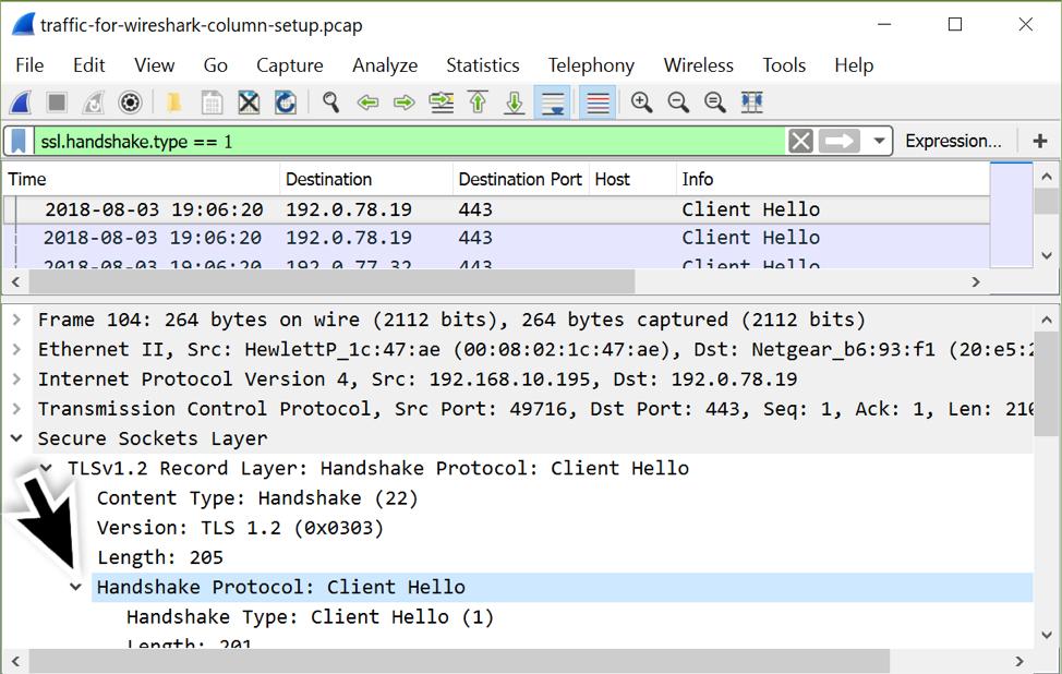 Customizing Wireshark – Changing Your Column Display - Malware News