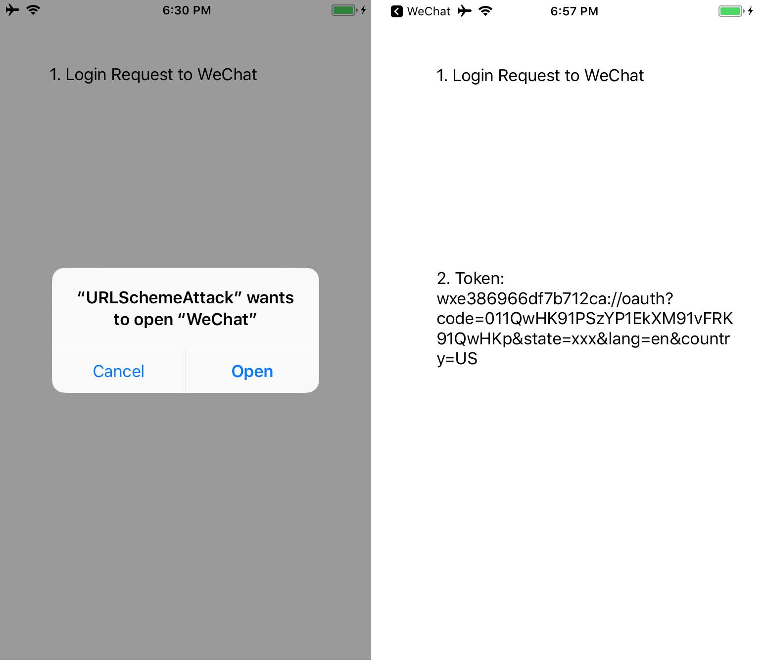 Url scheme wechat 微信 URL