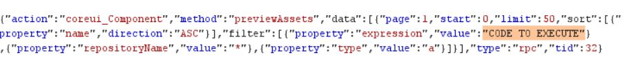 Figure 1. Snippet of previewAssets JSON request
